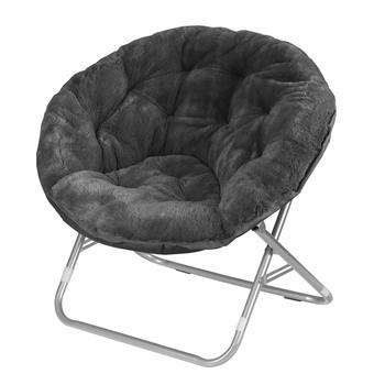 4. Urban Shop Faux Fur Saucer Chairs