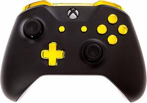5 Xbox One Modded Controllers Black and Gold Chrome