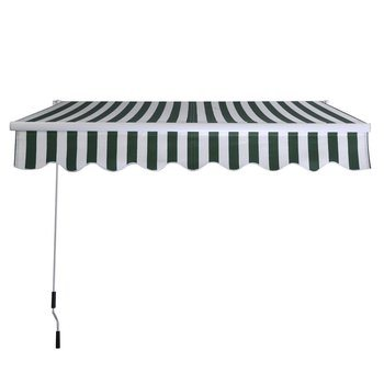 5. Goplus Manual Patio 8.2'×6.5' Retractable Deck Awning