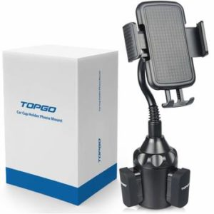 5. TOPGO [Upgraded] Cup Holder Phone Mount