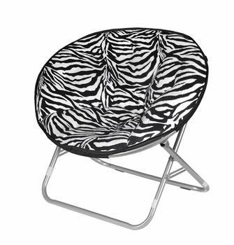 7 Urban Shop Zebra Faux Fur Saucer Chairs