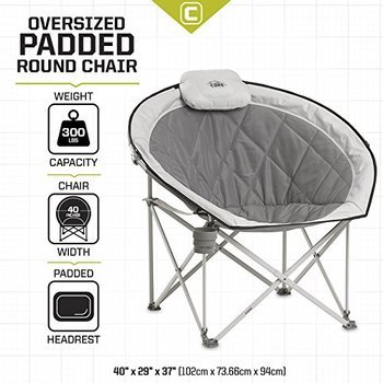8 CORE 40025 Equipment Folding Oversized Padded Moon Rounded Saucer Chairs