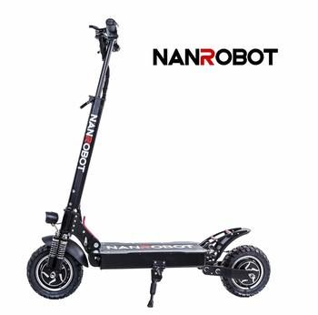 9. NANROBOT D4+ Pro High Speed Electric Scooter-10 inch Tires,2000W