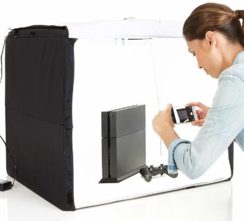 1. AmazonBasics Portable Photo Studio Box, - 25 x 30 x 25 Inches, Foldable, with LED Light