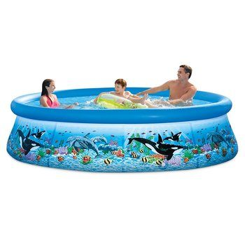 1. Intex 28125EH Ocean Reef Easy Set Family Pool Set with Filter Pump, 10ft X 30in