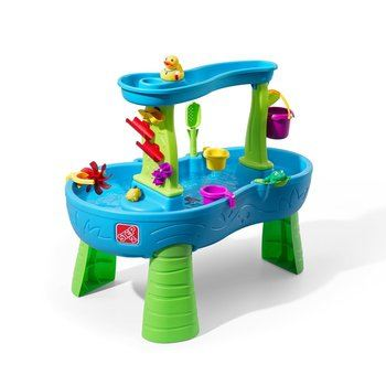1. Step2 Rain Showers Water Table for Kids with 13-Pc Accessory Set