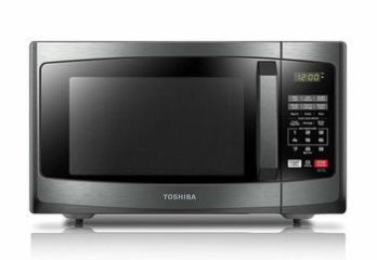 1. Toshiba EM925A5A-BS Microwave Oven with Sound On Off ECO Mode and LED Lighting