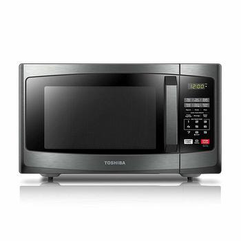 1. Toshiba EM925A5A-BS Compact Microwave Ovens with Sound On Off ECO Mode and LED Lighting