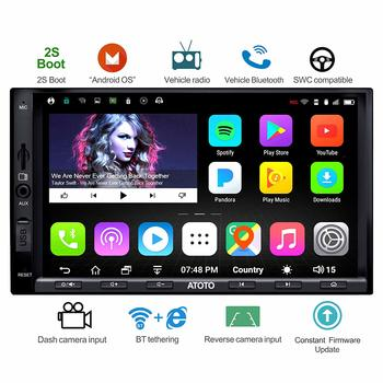 1.ATOTO A6 Double Din Car Stereo, Android, Dual Bluetooth - Multimedia Radio