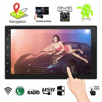 10.  7 Inch Touch Screen Double Din in Dash Car Stereo, Android 7.1, HD, QuadCore CPU