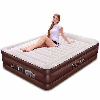 10. BAYKA Queen Air Mattress, 18-Inch Raised Elevation Double Airbed for Guest