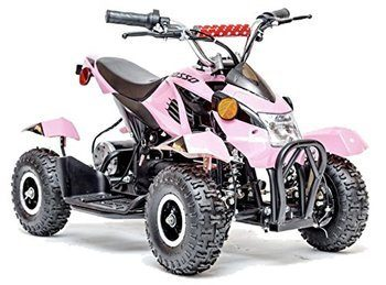 10. Rosso Motors Kids Atv Kids Quad 4 Wheel Rider On With 500W 36 Battery Electric Power