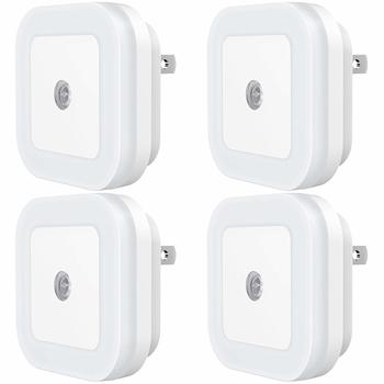 10. SYCEES LED Night Light, Plug-in Nightlight, Dimmable, with Dusk-to-Dawn Sensor