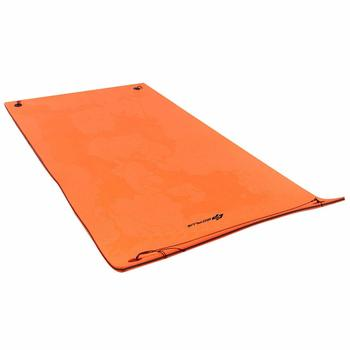 11. Goplus Floating Water Mat, (12' x 6') Tear-Resistant XPE Foam-Durable and Bouncy Material
