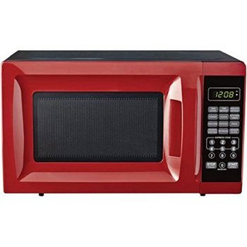 11. Mainstays Compact Microwave Ovens, 700W Output Red