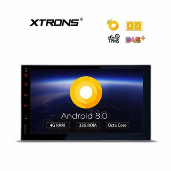 12. XTRONS 7 Inch Multi-Touch Screen Digital Car Stereo Android Double 2 Din, 8.0 Octa Core