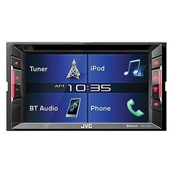 13.JVC KWV140BT Double Din in-Dash Car Stereo