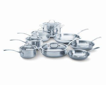 2. Calphalon Tri-Ply 13-Piece Cookware Set, Stainless Steel