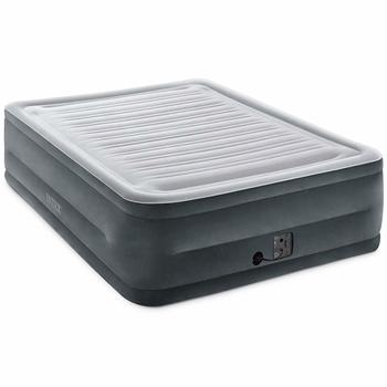 2. Intex Comfort Plush Dura-Beam Airbed with built-in Internal Electric Pump, 22-inch Bed