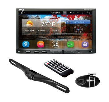 2. Premium 7In Double-DIN Car Stereo Receiver, Android OS, with Bluetooth