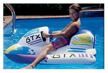 2. Swimline GTX White Wet Ski Inflatable Ride-On