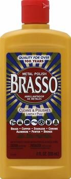 3. Brasso Metal Polish, 8 oz Bottle for Brass, Copper, Stainless, Chrome, Aluminum