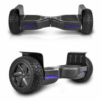 3. CHO All Terrain Rugged Off-Road Smart Self Balancing Hoverboard with 8.5 Inch Wheels, LED Lights