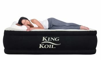 3. King Koil Air Mattress with 120-volt built-in Pump, Queen - Elevated Raised Mattress