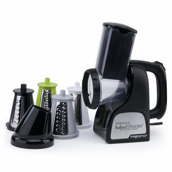 3. Presto 02970 Professional Electric SaladShooter SlicerShredder, Black