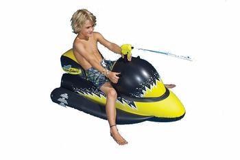 4. Laser Shark Wet Ski Squirter Pool Float Toy