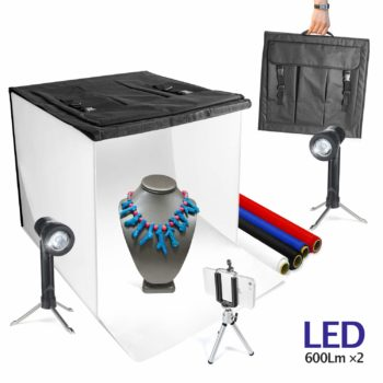 40x 40x 40cm Foldable Photo Lighting Studio Portable Shooting Tent Box Kit with 6 Colors Backdrops Loboo Idea Professional Photo Studio Box