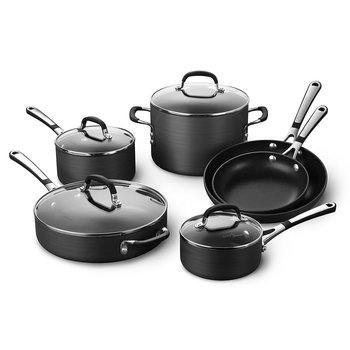 4. Simply Calphalon Nonstick Cookware Set -10 Piece (SA10H)