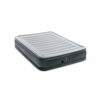 5. Intex Comfort Plush mid Rise Dura-Beam Airbed with Internal Electric Pump, Bed Height 13