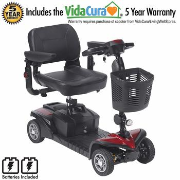 5. Scout 4 DST By Drive Medical Including 5 Year Ext INCL Batteries - 4-Wheel Electric Scooters