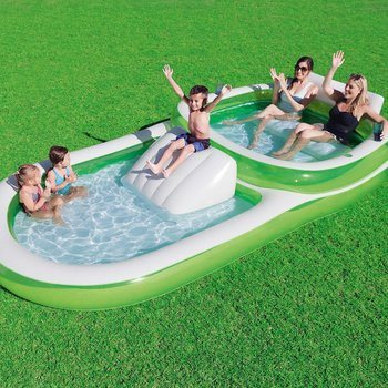 6. Bestway H2OGO! 2-in-1 Wide Inflatable Family Pool… Green White