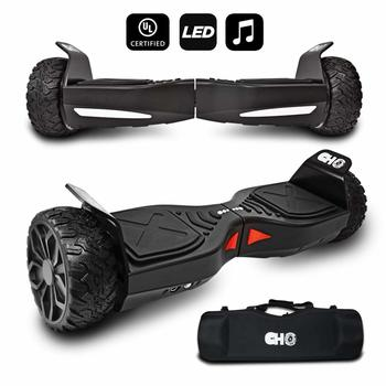 6. CHO[TM All Terrain Rugged Off-Road Self Balancing Electric Scooter with LED Lights