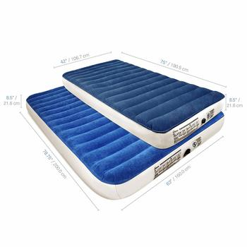 6. SoundAsleep Camping Series Twin Air Mattress with Eco-Friendly PVC - Comes