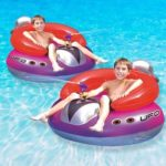 6. Swimline UFO Squirter Inflatable Swimming Pool Float, 2-Pack