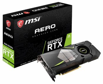 6.MSI Gaming Graphics Cards GeForce RTX 2070, 256-bit, 8GB GDRR6, HDMI DP USB