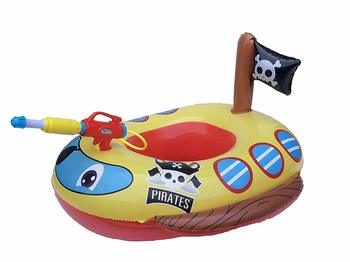 7. Big Summer Inflatable Pool Float for Kids- Pirate Boat – Includes a Built-in Squirt Gun