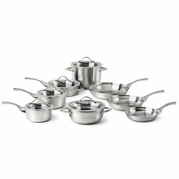 7. Calphalon Contemporary Styled Stainless Cookware Set, 13-Piece