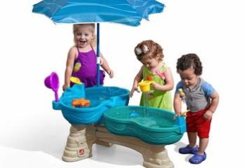 7. Step2 Spill & Splash Seaway Kids Water Table Dual-Level Play Large Table
