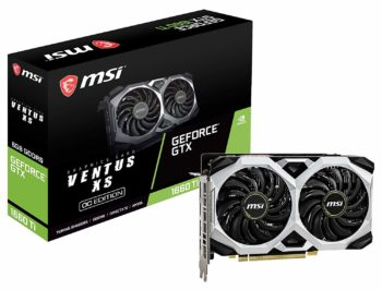 7.MSI Gaming Graphics Cards GeForce GTX 1660, 6GB GDRR6, 192-bit, HDCP Ti HDMI and DP, Support DirectX