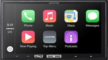 8. Alpine iLX-107 – 7-Inch Mach-less In-Dash Car Stereo Receiver, Wireless Apple CarPlay