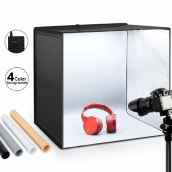 8. ESDDI Photo Studio Light Tent Box 20 50cm 120 LED, Adjustable Brightness, Portable