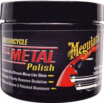8. MEGUIAR'S MC20406 Motorcycle All Metal Polish, 6 Ounces