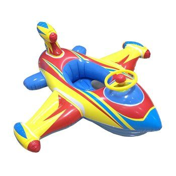 8. Topwon Inflatable Airplane Swimming Float Seat Boat for Infants, Baby, Kids