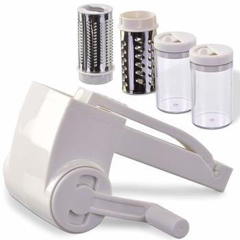 8. Vivaant Professional-Grade Stainless Steel Rotary Grater with 2 Stainless Steel Drums