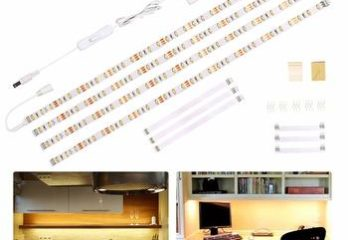 8. Wobane Under Cabinet Flexible LED Lighting Strip, Under Counter Lights for Kitchen, Bar