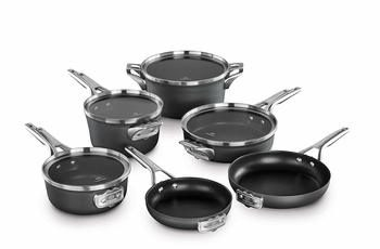9.  Calphalon Premier Nonstick Space Saving 10 Piece Set